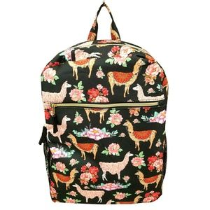 Under One Sky Llama Black Backpack